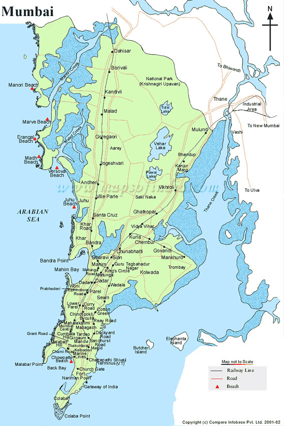 Mumbai On Map Of India.City Map Of Mumbai India Mumbai Map Mumbai City Map